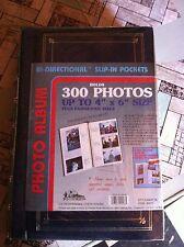 Spiral Bound Photo Album 300 Bi-Directional Memo Pockets Hold 4x6 Photos, Navy