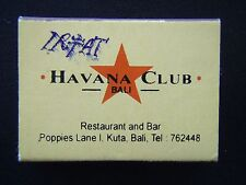 HAVANA CLUB BALI RESTAURANT AND BAR POPPIES LANE KUTA 762448 MATCHBOX