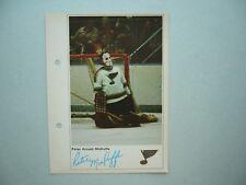 1971/72 TORONTO SUN NHL ACTION HOCKEY PHOTO PETER MCDUFFE ROOKIE SHARP!! 71/72