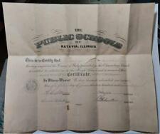 1919 Batavia, Illinois School  Advancement Diploma Louise Wright