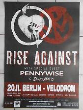 Rise Against 2014 Berlino ORIG. CONCERT POSTER -- concerto MANIFESTO a1