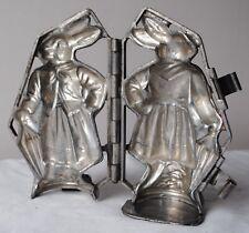 antique Anton Reiche hinged chocolate mold BAVARIAN DRESSED LADY RABBIT