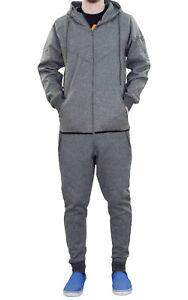 New Mens Tracksuit Set Zip Up Hoodie Hood Set Lined Sports Gym Jogging Bottoms