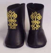 """Doll Clothes AG 18"""" Boots Black Frozen Made To Fit American Girl Dolls"""