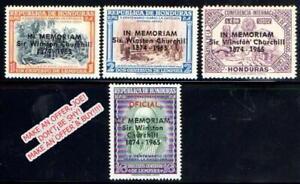 HONDURAS 1965 SIR WINSTON CHURCHILL MNH CV$9.10 WWII, NOBEL (best OFFER, JOE???)