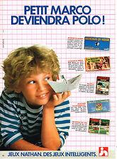 PUBLICITE ADVERTISING 094  1982  NATHAN  jeux éducatifs  PETIT MARCO
