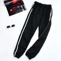 Mens Track Jogger Pants Slim Sweatpants Running Sports Side Stripe Bottoms M-2XL