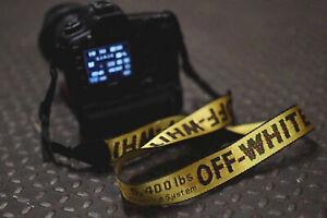 AU OFF WHITE c/o Virgil Abloh - Camera Strap DSLR Yellow Industrial Belt