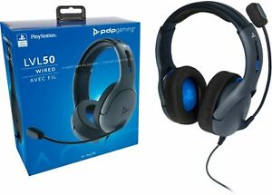 PDP - LVL50 Wired Stereo Gaming Headset for PlayStation 4 - Gray/Black ™