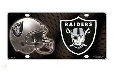 Oakland Raiders Metal License Plate Tag