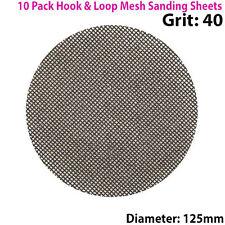 10x 40 Grit Silicon Carbide Mesh 125m Round Sanding Discs –Hook & Loop Backing