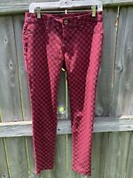 DL1961 Emma Denim Jeans Red Size 28 The Hipster Stretch Pants 360 Comfort
