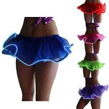 Women Light Up LED Tutu Stage Dance Rave Evening Club Party Mini Skirt Dancewear