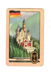 Swap Card Coles Original 1956 Melbourne Olympics - Germany Neuschwanstein Castle