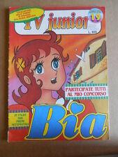 TV JUNIOR n°19  1981 Pinocchio di Daniele Panebarco ERI RAI  [G419A]