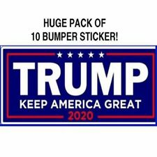 10x Donald Trump For President 2020 Bumper Sticker Keep America Great Decoration