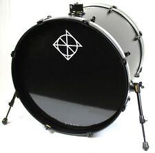 "Dixon Dixon Fuse Limited 22"" x 18"" Bass Kick Drum - Satin Black #R7416"