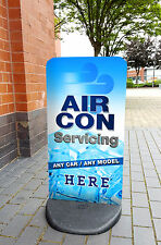 Air Conditioning Service A BOARD PAVEMENT SIGN ALUMINIUM DISPLAY Garage Air Con