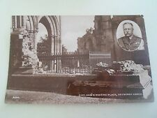 Vintage RPPC  Earl Haig's Resting Place, Dryburgh Abbey  Unposted  §R25