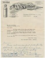 1918 Icy Hot Bottle Company Thermos Illustrated Letterhead & Envelope