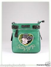 Betty Boop Crossbody Shoulder Bag Deep Green Sparkly Rhinestone King Features