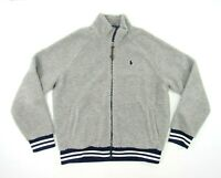 Polo Ralph Lauren Mens Medium Sherpa Soft Fleece Full Zip Jacket Sweater