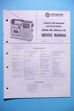 MANUEL DE REPARATION POUR Hitachi trk-5220, original