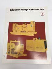 Vintage Caterpillar Brochure Electric Power Package Generator Sets