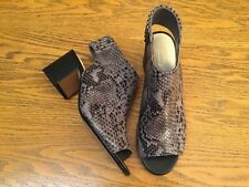 CLARKS SNAKE PRINT LEATHER OPEN TOE HEEL SHOES NEW SIZE 7.5
