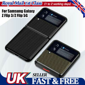 Case For Samsung Galaxy Z Flip 3 5G Carbon Fiber Texture Shockproof Phone Cover