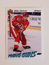1991-92 Upper Deck #587 Niklas Lidstrom Young Guns RC Detroit Red Wings Rookie