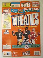 Empty Wheaties Cereal Box 1998 Nfl Championship Quarterbacks Favre Elway Young