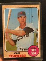 1968 Topps 250 Carl Yastrzemski Boston Red Sox Baseball Card EXCELLENT CONDITION