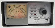 MOD430  Zetagi SWR-Meter u. Watt-Meter mit Kreuzzeigerinstrument für 120-500 MHz