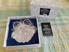 Bohemia cut glass flower with Swarovski components