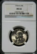 1954 S  UNC  Washington Quarter Certified NGC MS 66