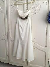Plunging 100% Silk Wedding Dresses