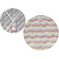 Sl Melamine Plate 25cm - Large Set Of 4 Colored Waves - Coloured Plates