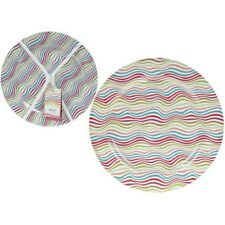 25cm Set Of 4 Coloured Melamine Plates - Set 4 Coloured Melamine Plates
