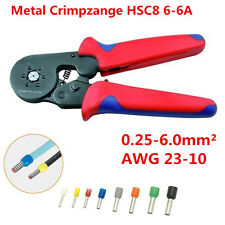 Self Adjusting Ratcheting Crimping Plier Wire End Ferrules Hsc8 6-6A 0.25-6mm² (Fits: Wasp)
