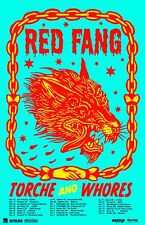 RED FANG / TORCHE & WHORES 2016 U.S.A. TOUR CONCERT POSTER- Stoner Metal Music