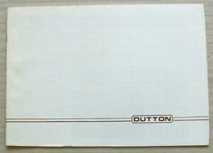 DUTTON KIT CARS Sales Brochure c1981 Phaeton MELOS Sierra Pick Up/Estate