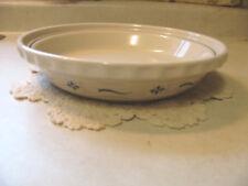 Longaberger Traditional Blue Grandma Bonnie's Pie Plate