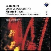 """CD APEX 7559 79675 2 Schoenberg """"String Quartet Concerto"""" Strauss Gerard Schwarz"""