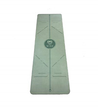 Eco Friendly Yoga Mat - Microfiber and Sustainable Rubber - Green