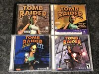 Lot of 4 Tomb Raider PC Video Games Chronicles, Unfinished Business, 1, 3