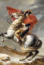 Napoleon Crossing the Alps  * 13 x 19 Color Reproduction Print