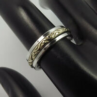 925 Sterling Silver Spinner Ring Wide Band Meditation Statement Jewelry GJ4112