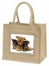 Yorkshire Terriers 'Love You Grandma' Large Natural Jute Shopping B, AD-Y3lygBLN