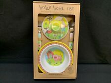 Sugarbooger Baby Bowl Set ~ Suction Bowl w/Lid, Spoon and Fork ~ NEW IN BOX